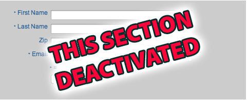 deactivated section